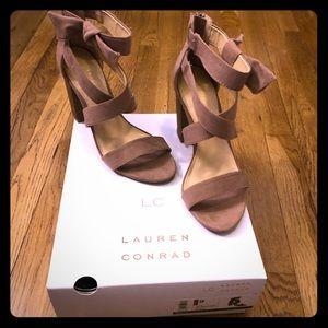 Lauren Conrad mauve strappy heel.